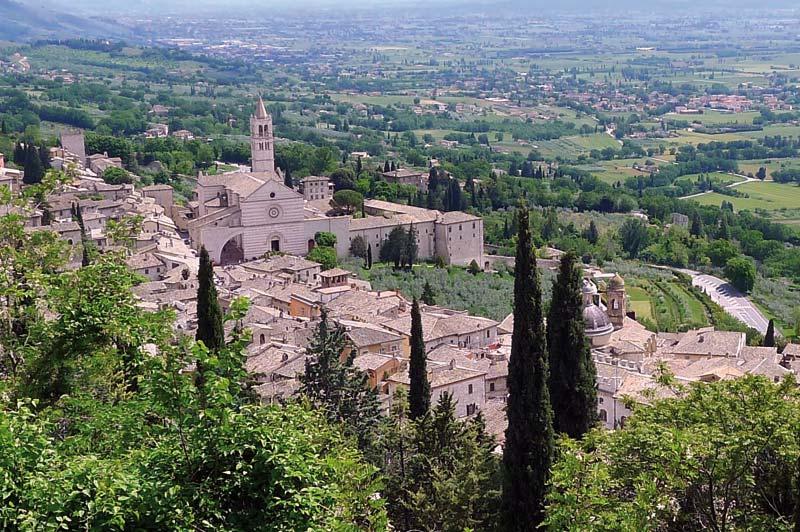 Veduta di Assisi